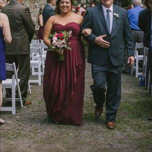 David's Bridal Strapless Sweetheart Neckline Gown